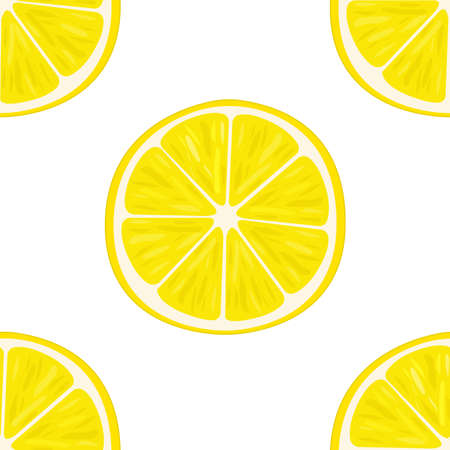 citric: illustration of lemon slices in different angles. Pattern. Illustration