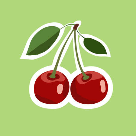 ripe: berry ripe bright cherry illustration Illustration