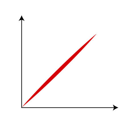 red line: Cartesian Coordinate System With Red Line.
