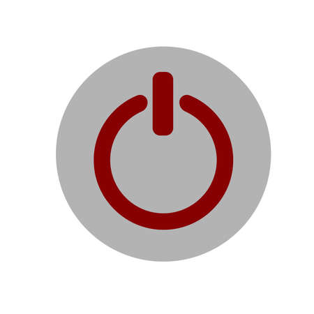 Power on off icon illustration. Gray and red icon Illustration