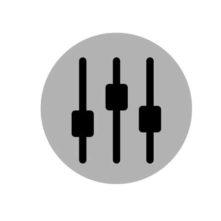 off the record: Vector Illustration of a Music Equalizer. Music Volume Equalizer icon. Voice icon. Black and gray icon. Vector illustration