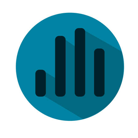 Vector Illustration of a Music Equalizer. Music Volume Equalizer icon. Voice icon. Blue flat icon Illustration