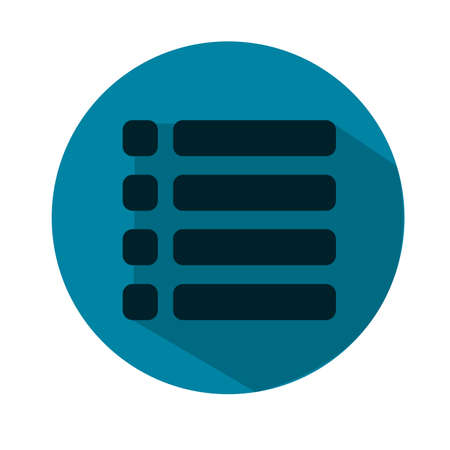 web portal: Web site menu flat icon. Flat style. Made in vector. Blue icon Illustration