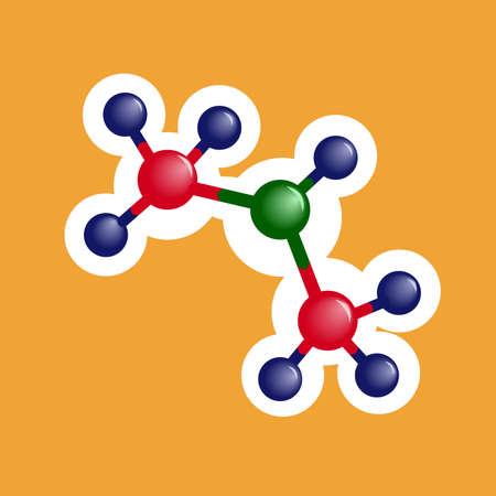 Molecule flat icon on white background. Vector illustration.