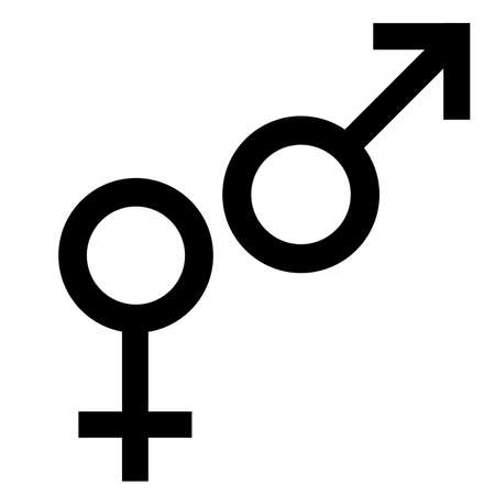 Sex Symbol Gender Man And Woman Symbol Male And Female Abstract