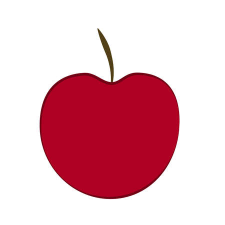 Vector red apple isolated on white background Ilustrace