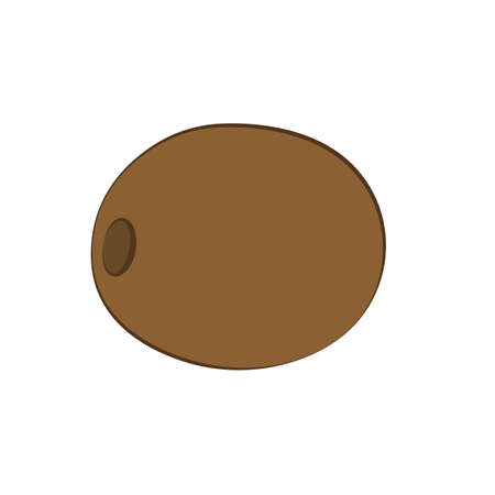 Flat icon of brown kiwi. Vector illustration.