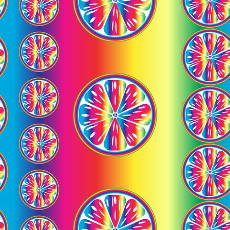 orange slices: seamless bright pattern of the spectrum orange slices