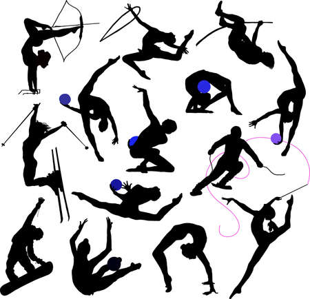 Sport - silhouttes Vector