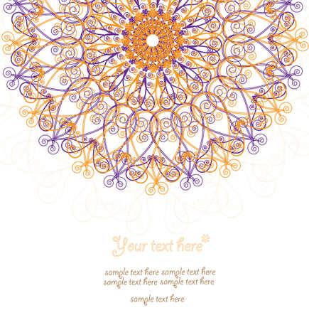 pastel tone: Vintage invitation card  Template frame design for card  Illustration