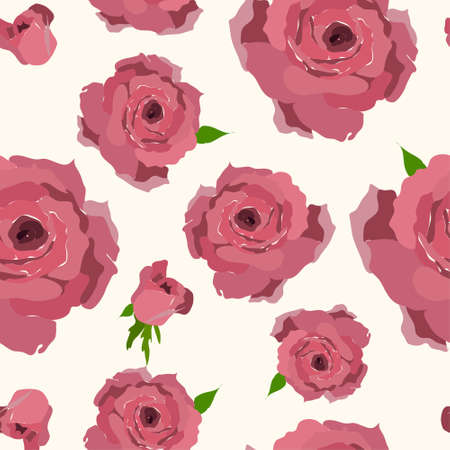 modern garden: Rose pattern. Seamless flower background pattern. Fabric texture. Floral vintage design.