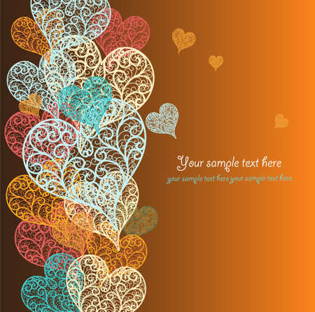 valentines day background: Vector abstract heart Illustration