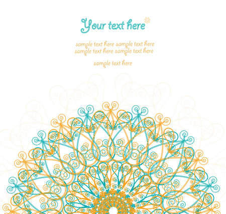 diameter: Vintage invitation card  Template frame design for card  Illustration