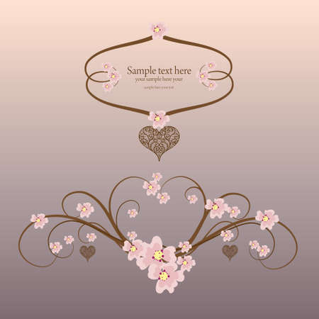 love shape: Ornamental frame heart with place for your text