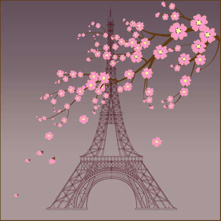 Vector illustration of Eiffel tower Vector