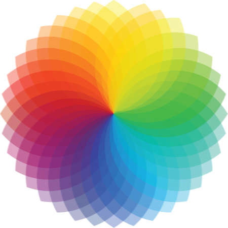 color image creativity: Color wheel background  Illustration