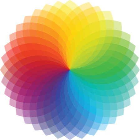 Kleurenwiel achtergrond Illustratie Stock Illustratie