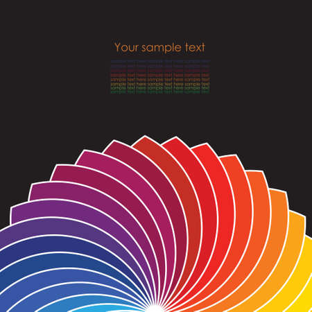 color spectrum: Abstract background with spectrum wheels  Illustration