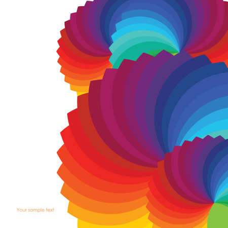 sampler: Abstract background with spectrum wheels  Illustration