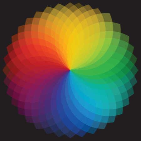 chromatique: roue arri�re-plan Illustration de couleur