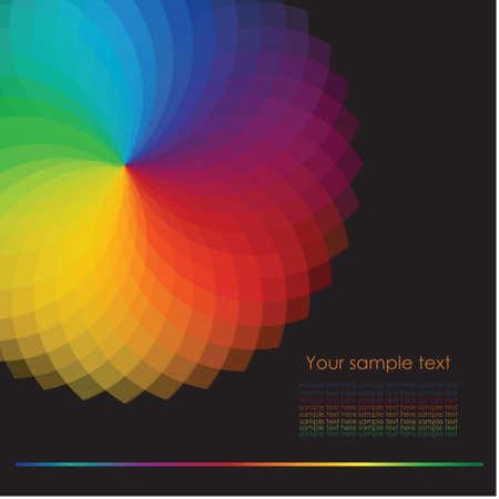 concentric circles: Rueda de color de fondo Ilustraci? Vectores