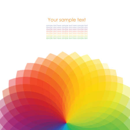 concentric circles: Fondo abstracto con ruedas de espectro
