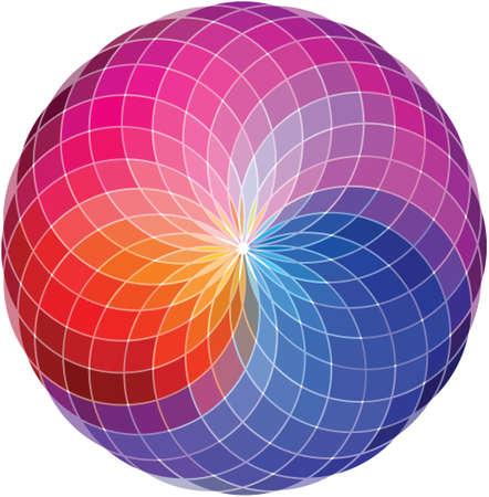 Color wheel background  Illustration