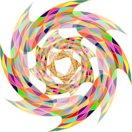 sampler: Color wheel background. Illustration