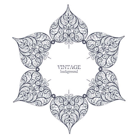 islamic pattern: Ornamental round lace, circle ornament with place for your text Illustration