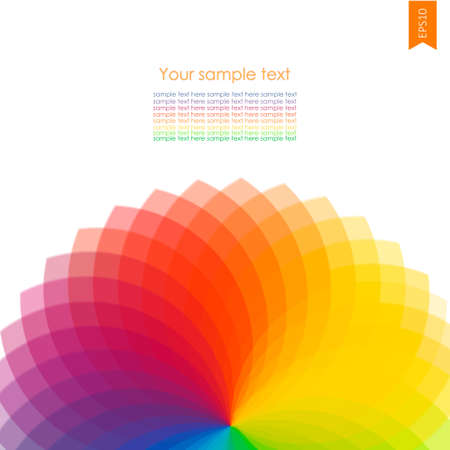 rainbow background: Abstract background with spectrum wheels ith place for you text