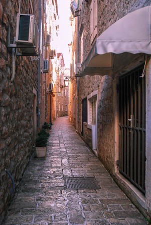 narrow street of the old town