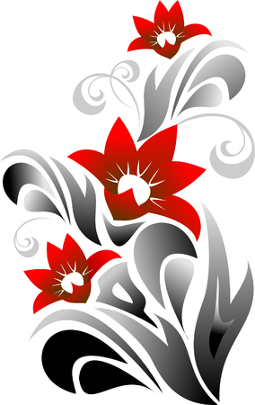 embroidery flower: flourish background