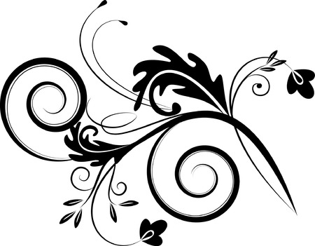 floral scroll: flourish background