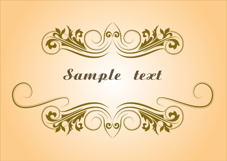 Abstract text frame Vector