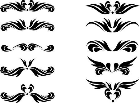gothic design: Design elements for tattoo