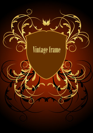 shielding: vintage frame with shielding