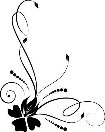 floral silhouette Stock Vector - 3910844