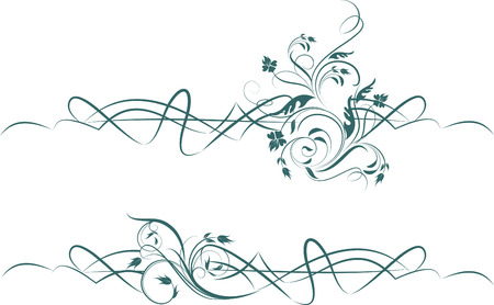 embroidery flower: design elements Illustration