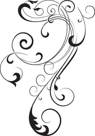 flourish: decorative branch Illustration