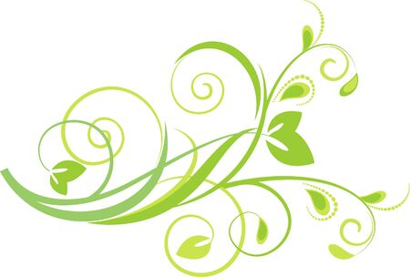 green floral background Stock Vector - 6642203