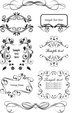 ornamented: set of vintage frames Illustration