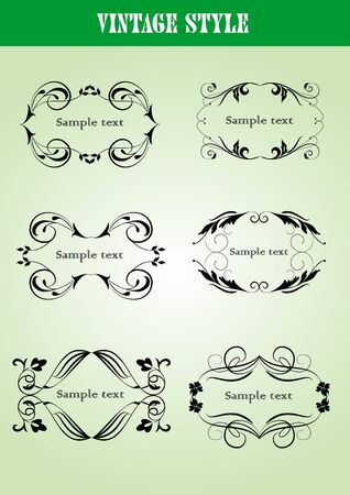 set of vintage frames Stock Vector - 7858529