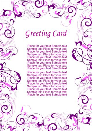 Greeting card vectorized Stock Vector - 7963338