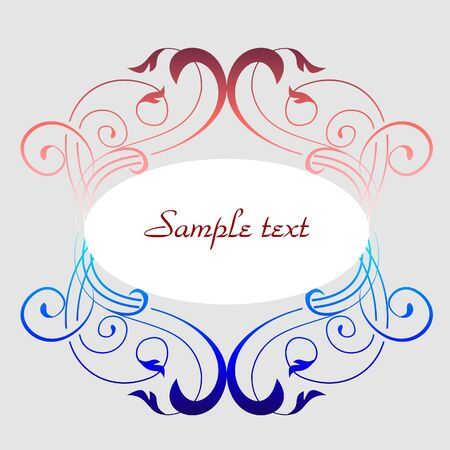 colorful decorative frame Stock Vector - 7963343