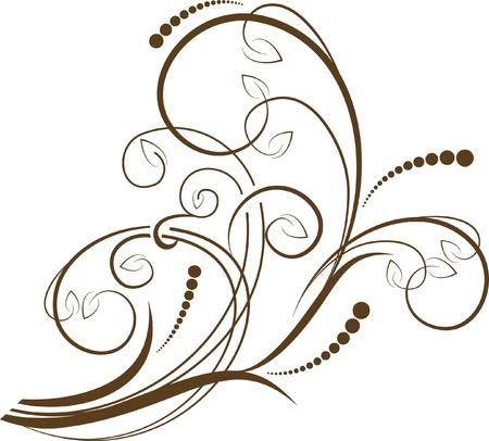 copertina libro antico: ramo decorativo Vettoriali