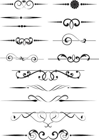 set of vintage design elements Stock Vector - 8082783