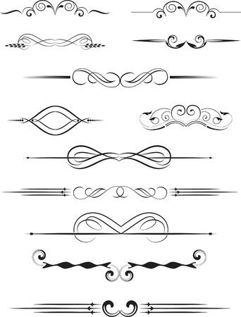 fretwork: conjunto de elementos de dise�o de estilo vintage vectorizada