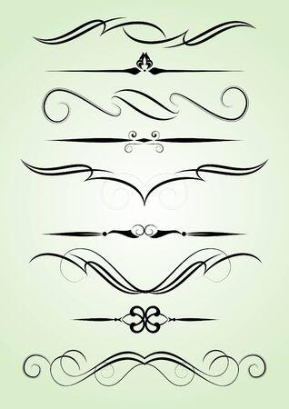 règle: ensemble d'�l�ments de conception dans le style Vintage vectoris�