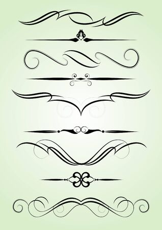 set of design elements in vintage style vectorized Stock Vector - 8145435