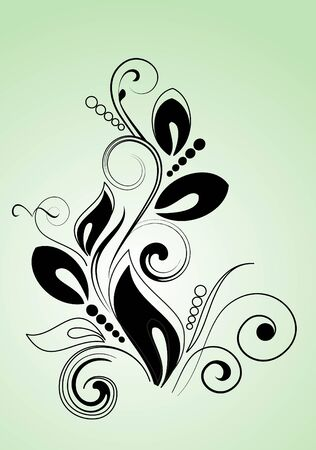 decorative branch for design Vector
